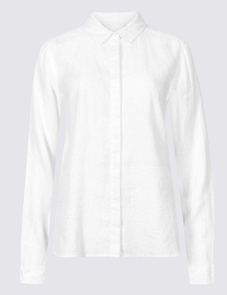 Pure Linen Supersoft Long Sleeve Shirt