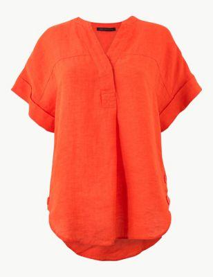 f045404101b6f Pure Linen Short Sleeve Shirt £25.00