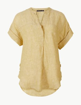 b10873f16f167 Pure Linen Short Sleeve Shirt £25.00