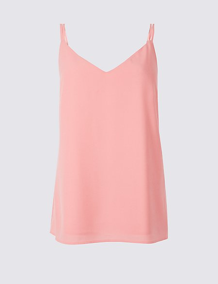 f91a831dd20723 Product images. Skip Carousel. Double Strap V-Neck Vest Top