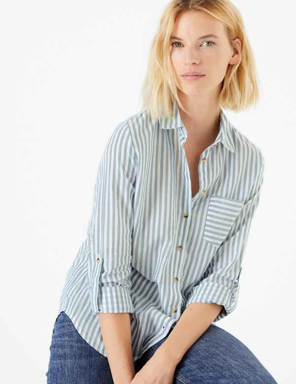 beb03f6ace66dd Striped Long Sleeve Shirt. New. M&S Collection
