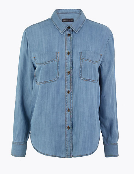 Patch Pocket Button Detailed Shirt
