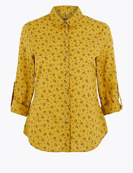 PETITE Pure Cotton Printed Shirt