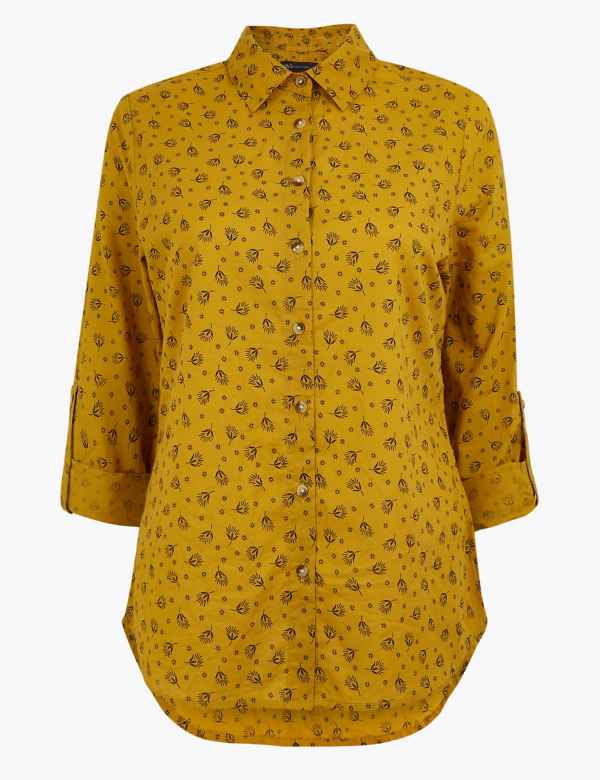 375b9ed3a91df1 Pure Cotton Printed Shirt. New. M&S Collection
