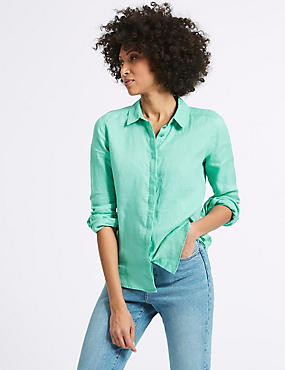 Pure Linen Long Sleeve Shirt