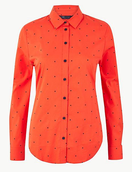 Pima Cotton Rich Polka Dot Shirt