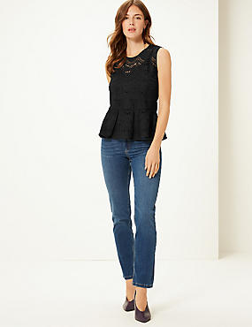Lace Round Neck Shell Top