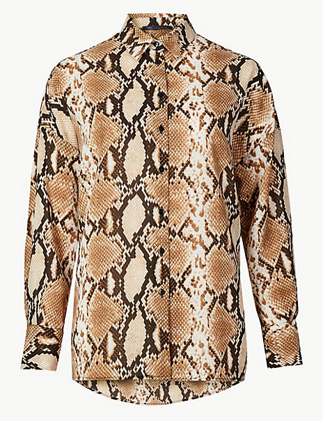 e417d0aab97837 Product images. Skip Carousel. Oversized Animal Print Long Sleeve Shirt
