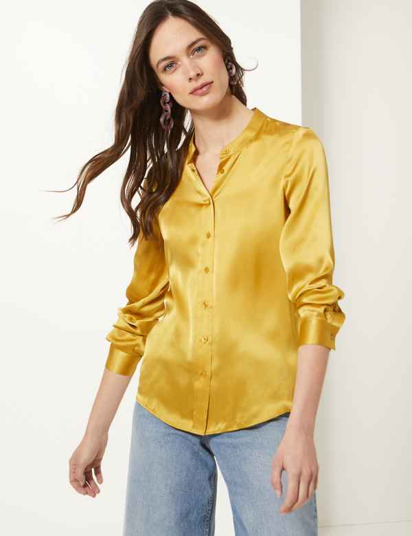 4febd52f79612 Womens Silk Shirts   Blouses