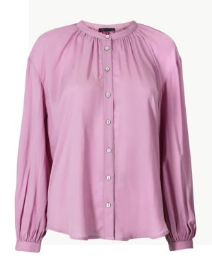 Collarless Long Blouson Sleeve Blouse £29.50 7138f0dfc4