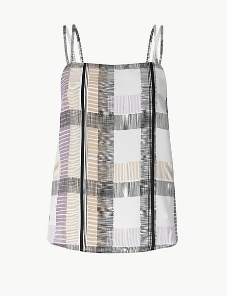 PETITE Checked Camisole Top
