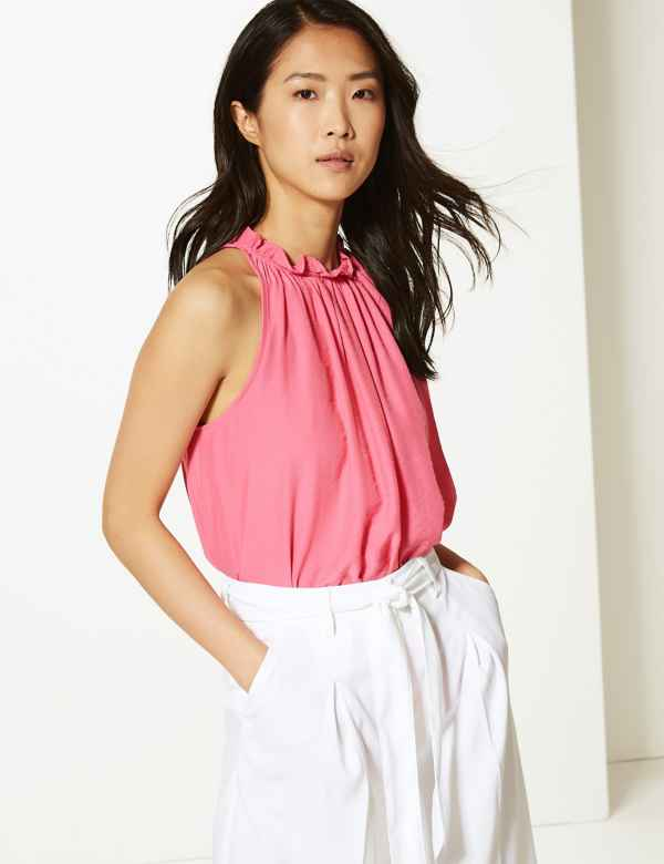 8111aac7312560 Womens Sleeveless Shirts & Blouses | M&S