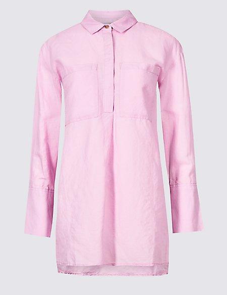 Linen Rich Tencel Long Sleeve Shirt