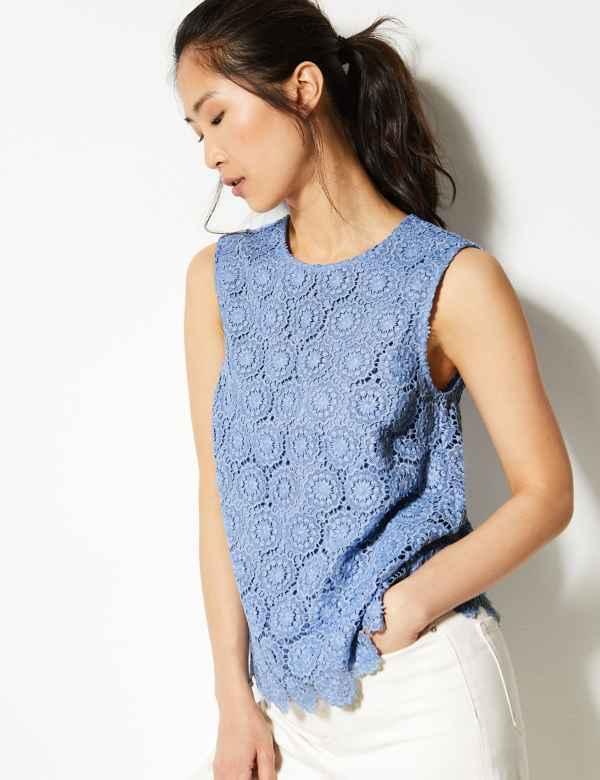 78d348bb Sleeveless | Women's Tops & T Shirts | M&S
