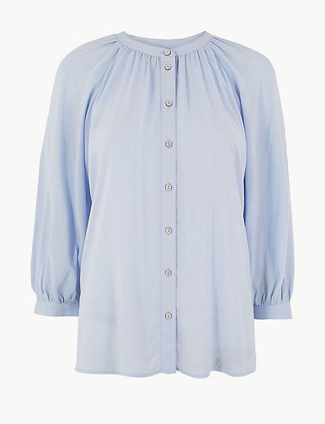 Oversized Blouson Sleeve Blouse
