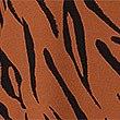 Animal Print 3/4 Sleeve Shirt, BROWN MIX, swatch