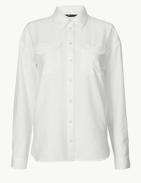 Button Detailed Patch Pocket Shirt