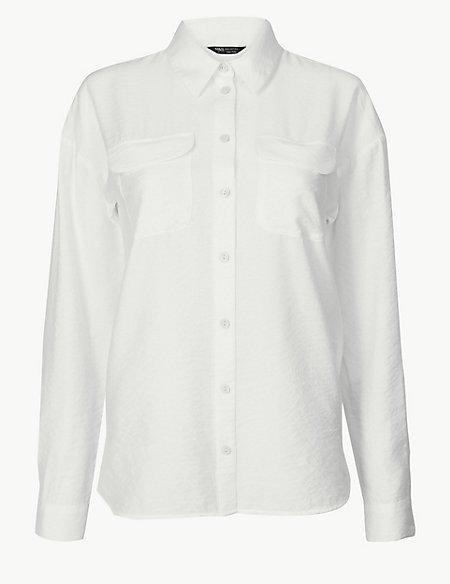 Button Detailed Long Sleeve Shirt