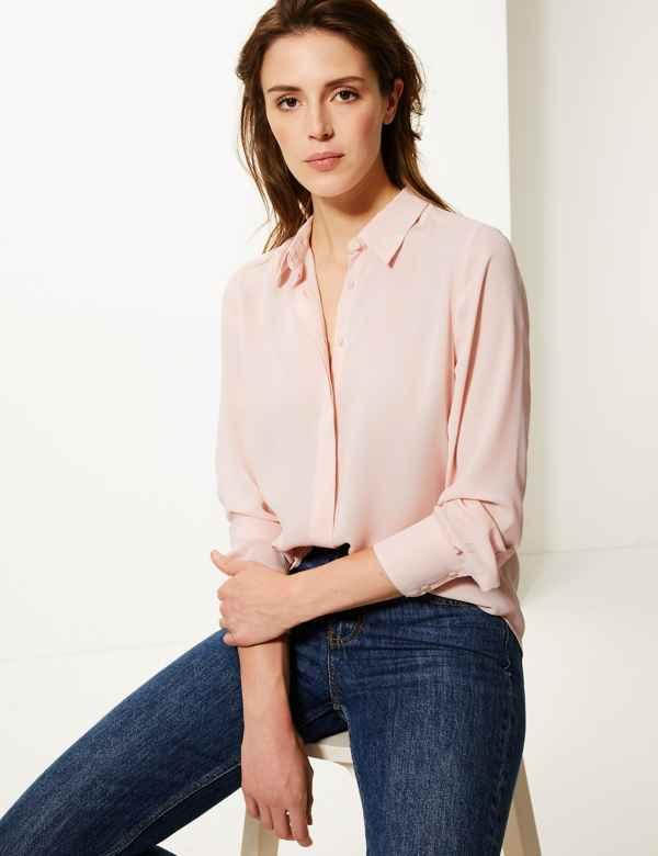 7573ddfc31b Womens Plain Tops & T-Shirts | M&S