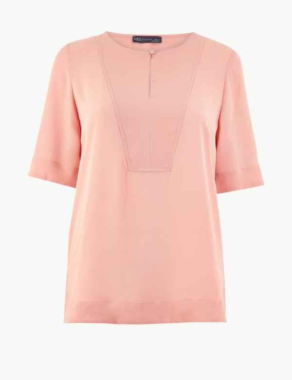 fad75f4d08f M&S Collection Womens Shirts & Blouses | Linen & Silk | M&S