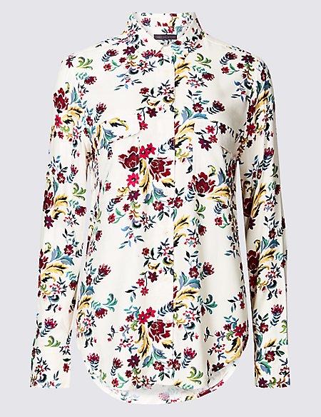 Floral Print Long Sleeve Shirt