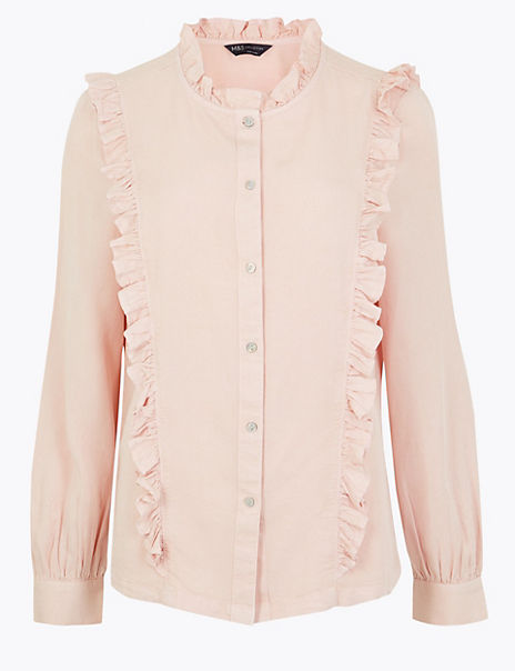 Tencel Ruffle Detail Blouse