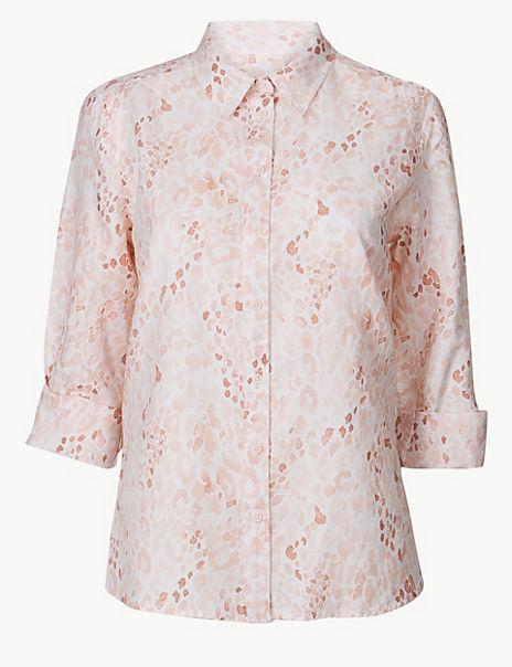 Linen Rich Animal Print Shirt