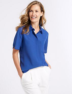 Crepe Half Sleeve Shirt