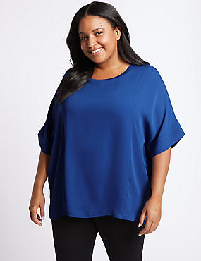 CURVE Double Layer Half Sleeve Blouse