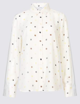 Spotted Long Sleeve Shirt by Marks & Spencer