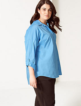 CURVE Cotton Rich Long Sleeve Shirt