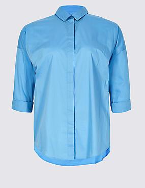 CURVE Cotton Rich Long Sleeve Shirt