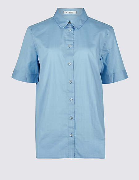 Pure Cotton Half Sleeve Shirt