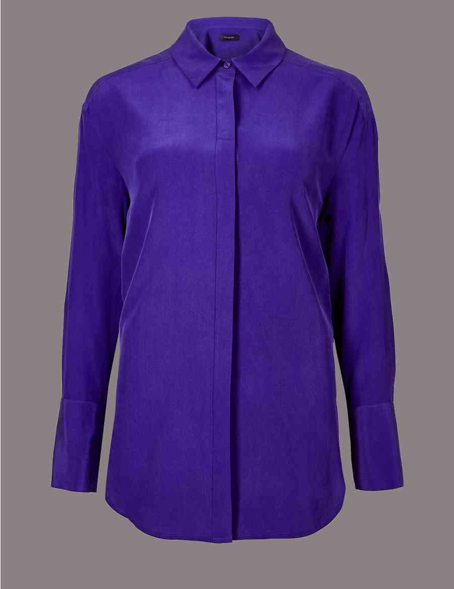 717c5d22512bc8 Silk Long Sleeve Top Tops