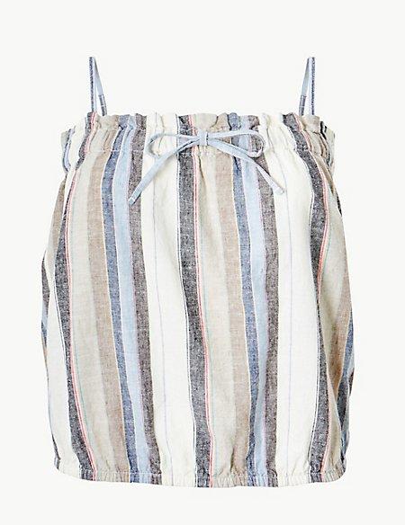Striped Square Neck Camisole Top