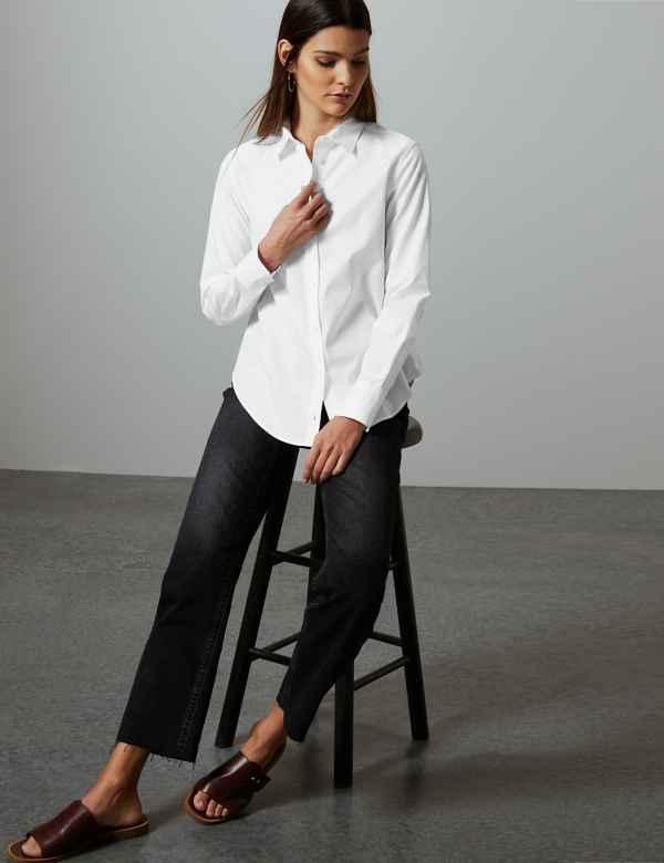 84e8c3eebbb6d Pure Cotton Self Stripe Shirt
