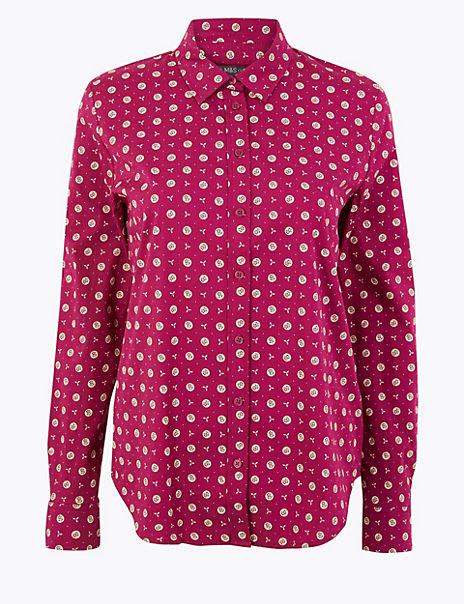 Cotton Rich Floral Print Slim Fit Shirt