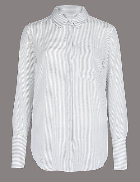Pure Silk Long Sleeve Shirt