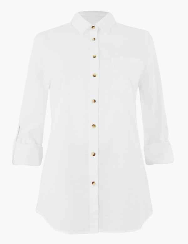 ec09f293470774 Womens White Shirts & Blouses | M&S