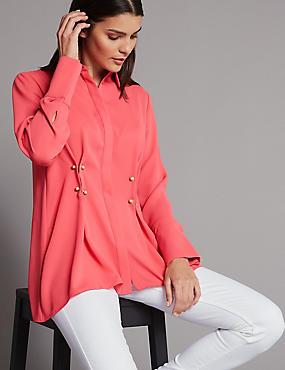 Waist Detail Long Sleeve Shirt