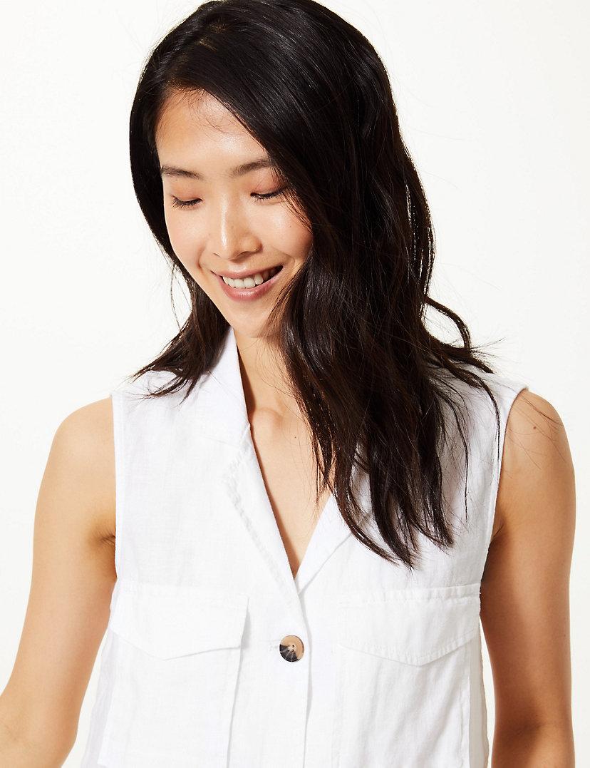 Pure Linen Button Shirt
