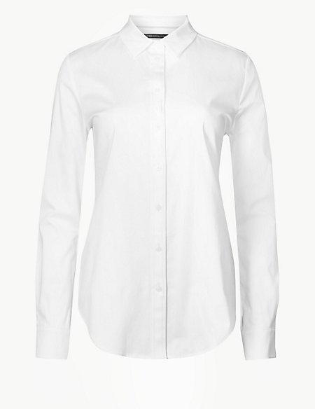 Cotton Rich Long Sleeve Shirt