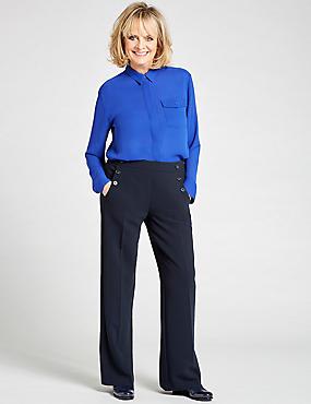 Dipped Hem Pocket Detail Long Sleeve Shirt