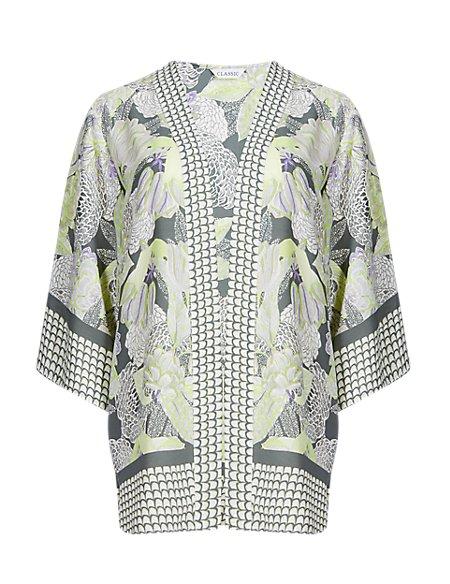3/4 Sleeve Floral Kimono Top