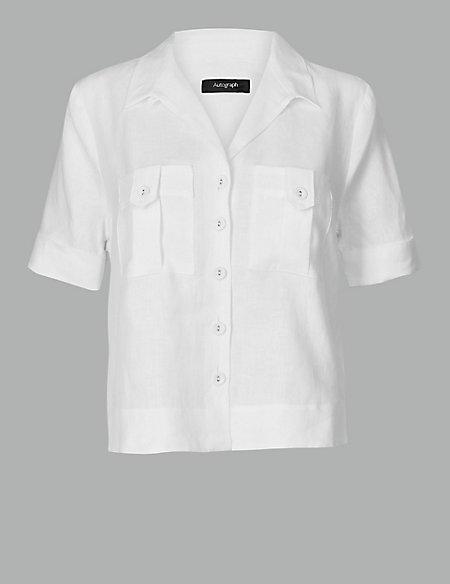 Pure Linen Short Sleeve Shirt