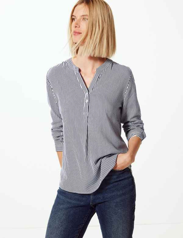 544a5112f M&S Collection Womens Shirts & Blouses | Linen & Silk | M&S