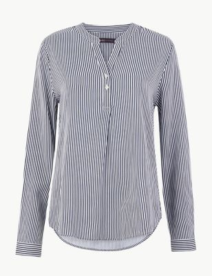 84af06f1f3626 Summer shirts. Striped Button Detailed Blouse £15.00