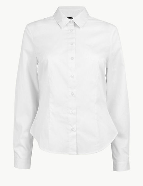 Cotton Rich Fitted Fuller Bust Shirt