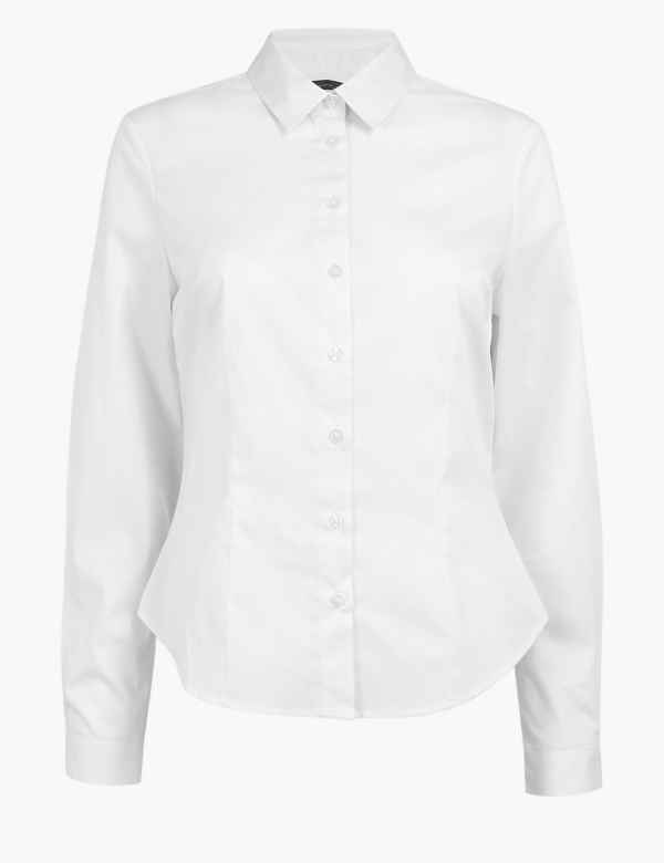 184fc1a9 CURVE Cotton Rich Fitted Fuller Bust Shirt