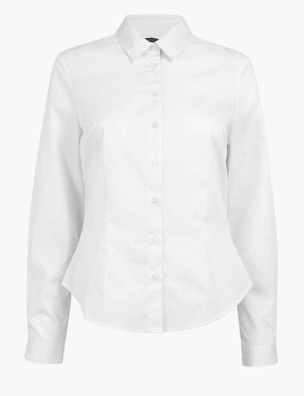 ef1b232eec6018 Womens White Shirts & Blouses | M&S